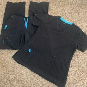 Carhartt Black scrubs set NWOT